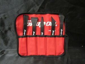 Snap On C0100 Plastic Non Marring Pry Bar Set In Roll Pouch