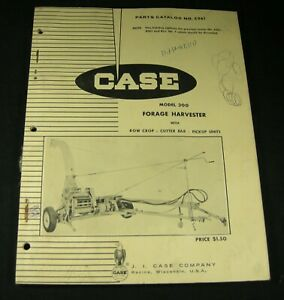 Case 300 Forage Harvester With Row Crop Cutter Bar Pickup Units Parts Manual Oem