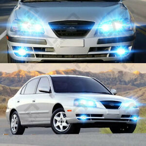 For 2004 2005 2006 Hyundai Elantra 6pc 8000k Led Headlights Bulbs Fog Lights