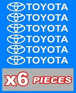 Toyota Emblems Stickers Decals 6 Total Multiple Colors