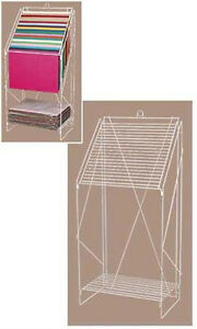 Floor Standing Wire Display Tissue Paper Rack In White 23w X 15 1 2d X 49h Inch