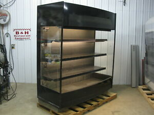 Barker 72 Open Air Refrigerated 6 Multi Deck Grocery In Line Display Case