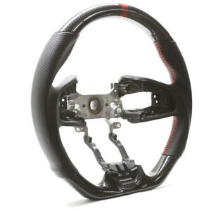 Handkraftd 17 18 19 Honda Crv Black Leather W Hydro Carbon Steering Wheel