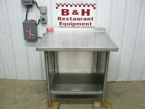 American Delphi 36 X 32 Stainless Heavy Duty Kitchen Work Table Cabinet 3