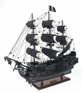 Black Pearl Caribbean Pirate Tall Ship 20 Built Wood Model Sail Boat Assembled