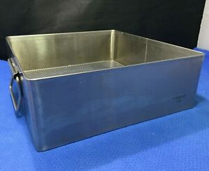 Stainless Steel V Mueller 10x10 5x3 5 Sterilization Basket instrument Tray Kp