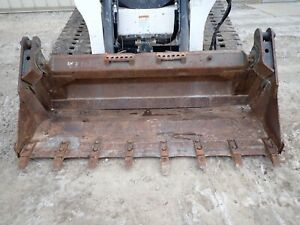 2013 Bobcat 74 4 1 Combo Bucket W teeth Fits Many Skid Steers ssl Quick Attach
