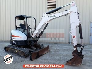 2015 Bobcat E35i Mini Excavator Orops Aux Hydraulics 2 Spd Long Arm 24 8 Hp
