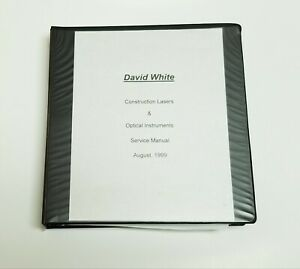 David White Parts List Diagrams Laser Levels Detectors Tripods Transits