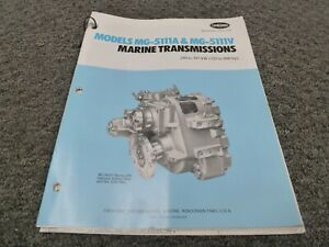 Twin Disc Mg 5111v Transmission Assembly Dimensional Specifications Manual