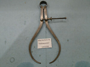 D235 Starrett 79a 8 Outside Caliper 8 Spring Type W Solid Nut For Machinist