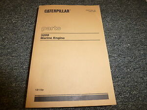 Caterpillar Cat 3208 Marine Engine Parts Catalog Manual Book S n 1z1 up