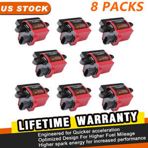 8packs Square Ignition Coil For Cadillac Chevy Gmc Workhorse Acdelco d581 Uf271