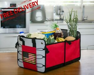 Trunk Organizer For Car Suv Collapsible Cargo Storage For Auto Home Use