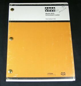 Case W20 Articulated Loader Tractor Parts Manual Book Catalog List Oem