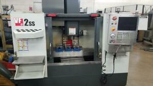 Used 2013 Haas Vf 2ss Cnc Vertical Machining Center Mill 4th Ready Usb Ct40 40hp