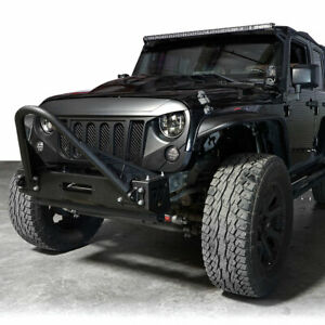 Front Angry Gladiator Grille For Jeep Wrangler 2007 2017 Jk Unlimited Black
