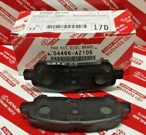 2008 2013 Toyota Highlander Hv Rear Cerami Brake Pads Genuine Oem 04466 Az105