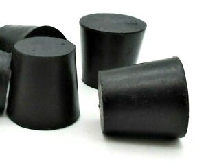 5 Solid Rubber Stoppers Lab Tapered Plug Cork Fits 1 Id