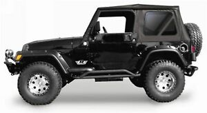 Rampage Complete Soft Top With Frame Hardware Black Diamond For Jeep Wrangler Tj