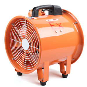 Explosion Proof Fan Extractor Blower Axial Flow Ventilator 12 Inch 110v 370w Us
