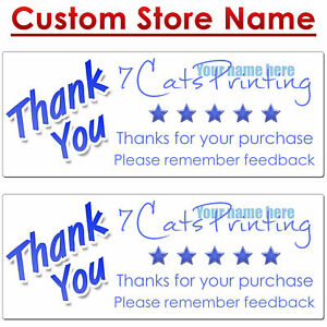 30 For Mercari Thank You Stickers Custom Name Labels