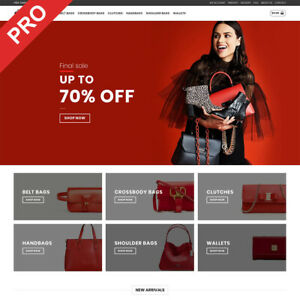 Turnkey Dropshipping Business Women Bags Store Ecommerce Website For Sale