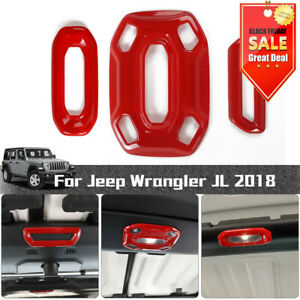Roof Reading Lamp Light Panel Cover Decor Trim For Jeep Wrangler Jl Jt Red