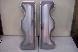 409 Chevy Original Steel Non Bowtie Valve Covers Freshly Restored Like Nos 348