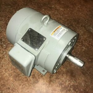 General Electric 5 Hp Three Phase Motor 1735 Rpm 200 400 Volts 5ke184ate205