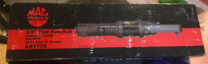 Mac Tools Ar1776 3 8 Flat Head Air Ratchet For Tight Areas Brand New In Box Neve