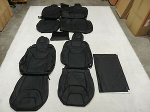 Leather Seat Covers Interior Replacement Fits Jeep Cherokee 2014 2017 Black X48