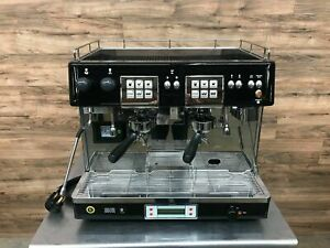 Brasilia Commercial Espresso Machine 2 Group Tall Cup Model 205 Restaurant