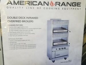 American Range Agbu 2 Double Deck Infrared Gas Broiler