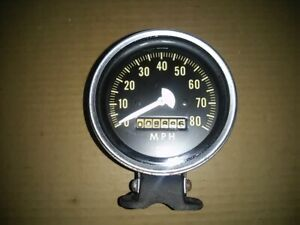 Vintage Stewart Warner Column Mount Speedometer Rat Hot Rod Rail Dune Buggy