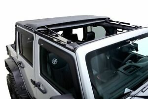 Rampage Trailview Fastback Soft Top Black Diamond For 07 18 Wrangler Jku 4 door