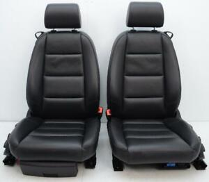 2002 2003 2004 2005 2006 Audi A4 2dr Cabriolet Oem Black Leather Heated Seats
