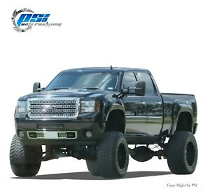 Pop Out Bolt Fender Flares Fits Gmc Sierra 2500 Hd 3500 Hd 2011 2014 Paintable