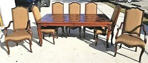 Set Of 10 Henredon French Provincial Mahogany Dining Chairs Only Nail Accents