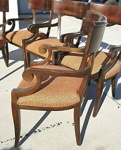 Set Of 6 Baker Milling Road Dining Armchairs Chairs