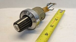 Vintage Fan Switch For Car Truck Three Position With Wiring Plug