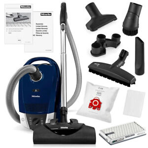 Miele Compact C2 Electro Powerline sdce0 Canister Vacuum marine Blue