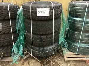 4 Goodyear Wrangler Mt M998 Hmmwv Military Tires With Rims 37x12 50r16 5 Lt
