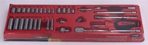 Snap On 34 Pc 1 4 Drive 6 Point Sae Shallow Deep General Service Socket Set