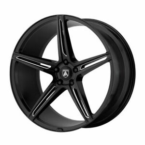 Package 4 22x9 Asanti Black Alpha 5 Et 32 Black Milled 5x120 Wheels Rims