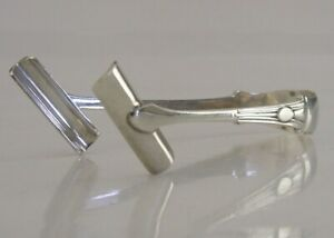 Victorian Sterling Silver Asparagus Tongs 1892 Antique