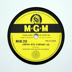 George Shearing Quintet jumping With Symphony Sid e M g m 293 78 Rpm