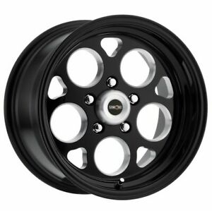 Four 4 15x10 American Muscle 561 Sport Mag Et 0 Black Milled 5x114 3 5x4 5