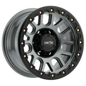 Four 4 18x9 Vision Off Road 111 Nemesis Et 0 Grey 5x127 5x5 Wheels Rims