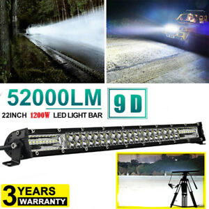 20 Inch 1200w Led Work Light Bar Flood Spot Combo Offroad Truck Driving Lamp 22